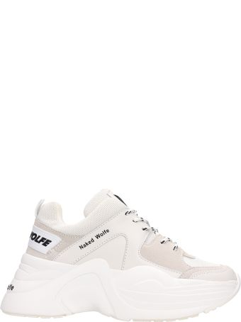 Naked Wolfe Nw Strack White Fabric Sneakers