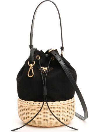 Prada Hemp Mini Bucket Bag