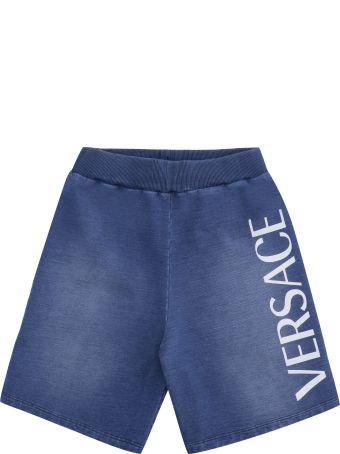 Young Versace Logo Print Sweatshorts