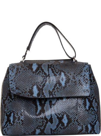 Orciani Medium Sveva Shoulder Bag In Blue