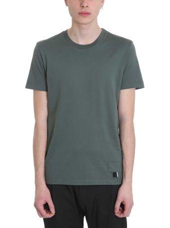 Low Brand Green  Cotton T-shirt