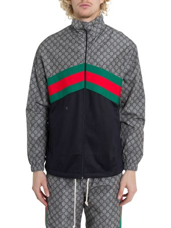 Gucci Oversize Technical Jersey Jacket Grey