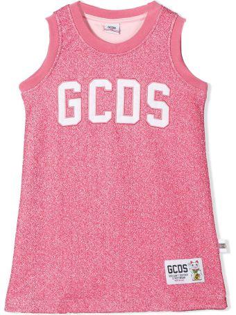 GCDS Pink Cotton-blend Dress