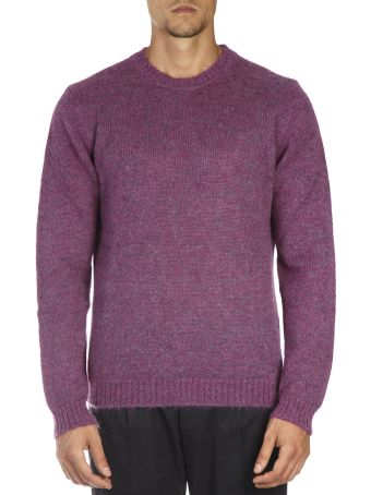 Low Brand Magenta Wool Sweatshirt