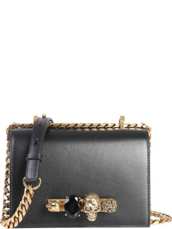 Alexander McQueen Small Jeweled Satchel Bag