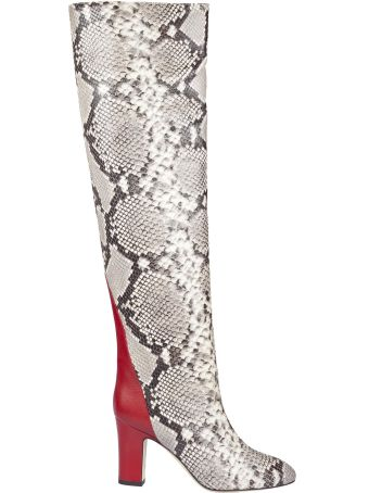 GIA COUTURE Snakeskin Pattern High Boots