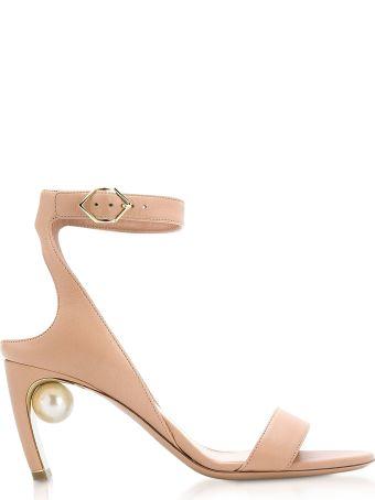 Nicholas Kirkwood Beige Nappa 70mm Lola Pearl Sandals