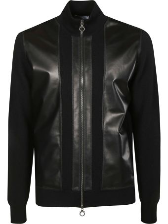 Salvatore Ferragamo Leather Zip Bomber