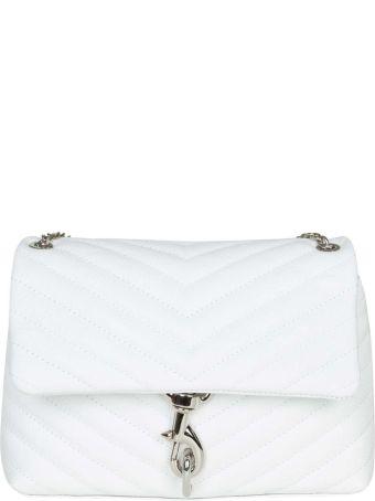 Rebecca Minkoff Edie Flap Bag In White Leather