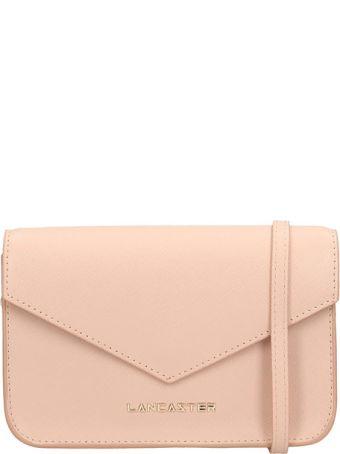 Lancaster Paris Adeline Mini Pink Saffiano Leather Pochette