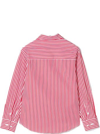 Fay White And Raspberry Red Cotton Shirt