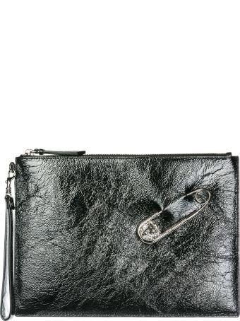 Versus Versace  Leather Clutch Handbag Bag Purse