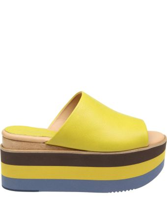 Paloma Barcelò Paloma Barcelo 'sandalo In Leather Color Yellow