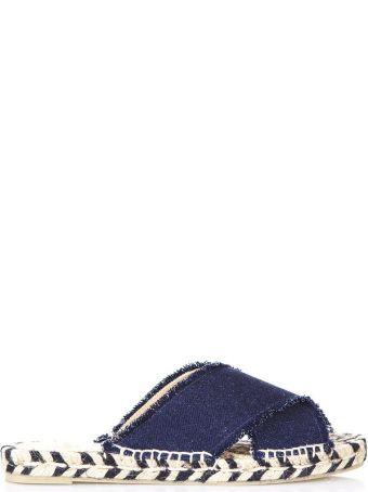 Castañer Blue Palmera Espadrille In Cotton