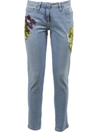 Blumarine Capsule Patch Floral Jeans