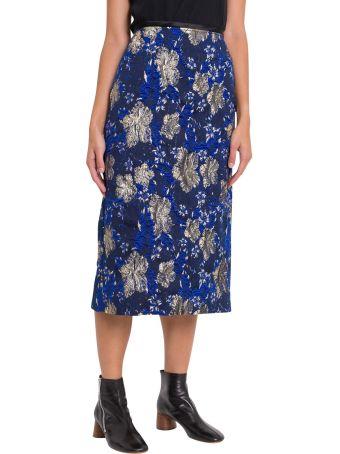 Dries Van Noten Laminated Borcade Skirt
