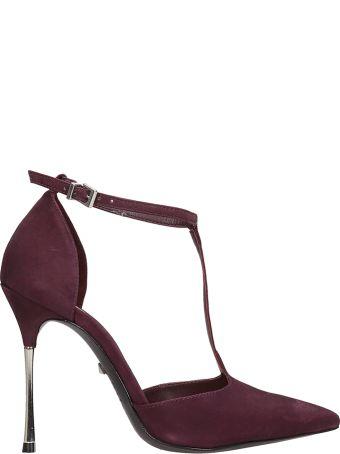Schutz Burgundy Suede Sandals