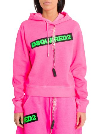 Dsquared2 Fluo Pink Hoodie