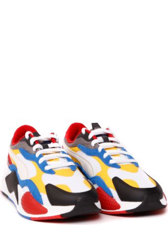Puma Select Rs-x3 Puzzle Multicolor Nylon & Leather Sneaker