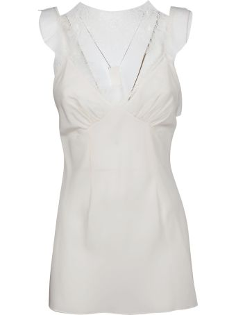 Victoria Beckham Lace Trim Top