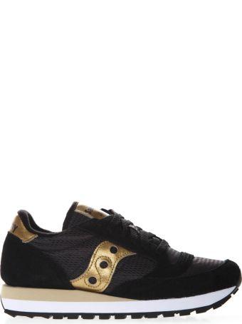 Saucony Original Jazz Black & Gold Suede & Nylon Sneaker
