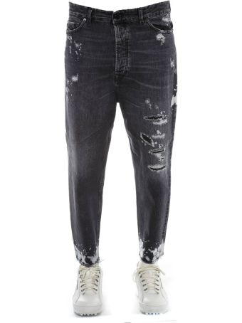 Diesel Black Gold Black Cotton Jeans