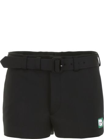 Prada Shorts With Logo Patch