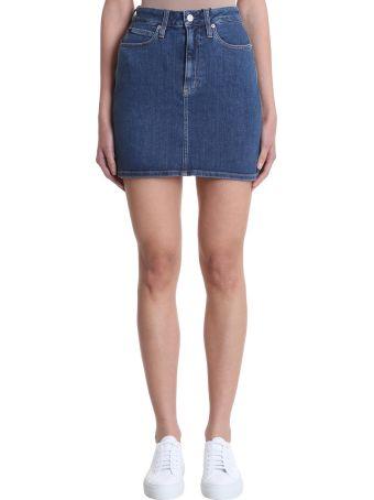 Calvin Klein Jeans Blue Mini Skirt
