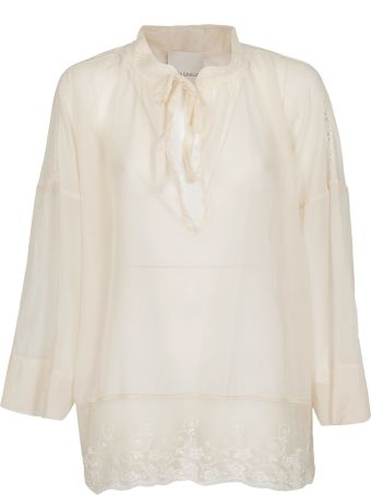 SEMICOUTURE Lace Trimmed Blouse