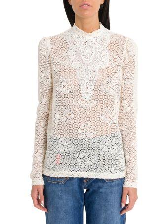 Philosophy di Lorenzo Serafini Crochet Lace Top