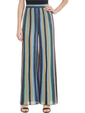 M Missoni Striped High Waist Trousers
