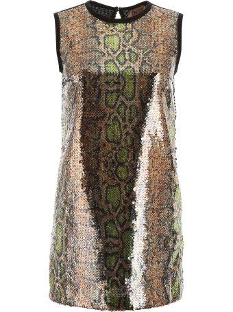 N.21 Animalier Sequins Mini Dress