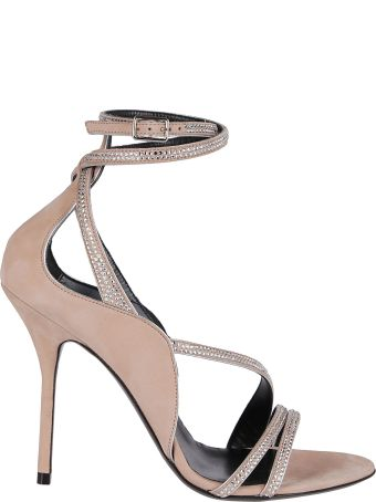 Pierre Hardy Nude Leather Midnight Sandals