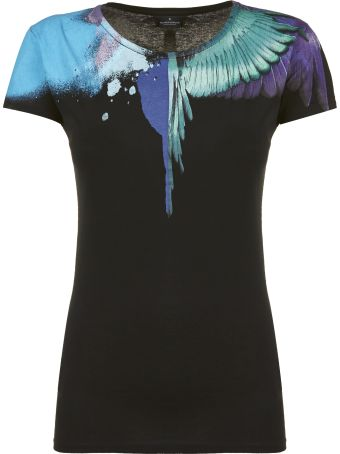 Marcelo Burlon Sprayed Wings Print T-shirt