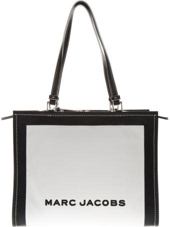 Marc Jacobs The Box White & Black Leather Shopper Bag