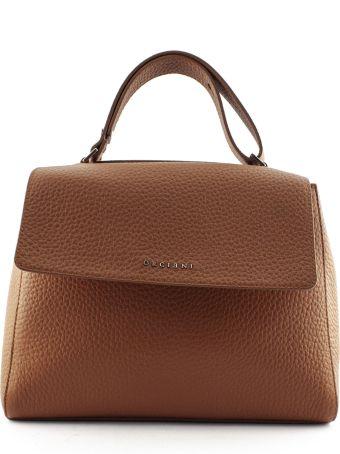 Orciani Tobacco Leather Sveva Large Bag