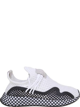 Adidas Originals Adidas Deerupt S In Strech White And Black Fabric