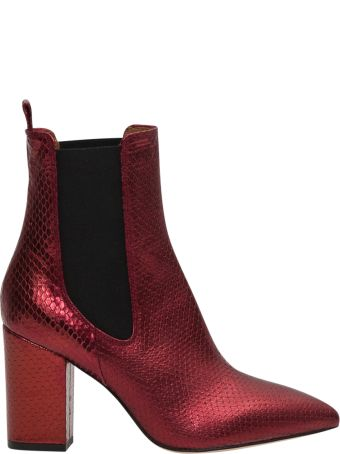 Paris Texas Laminated Python Boots