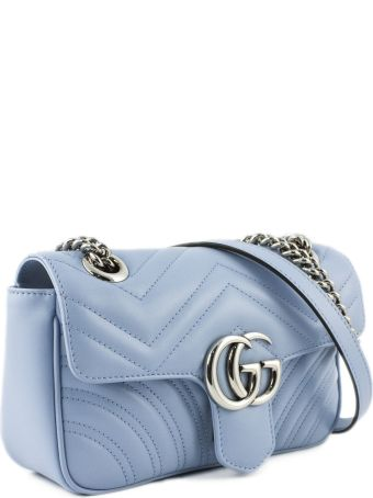 Gucci Gg Marmont Pastel Blue Mini Bag