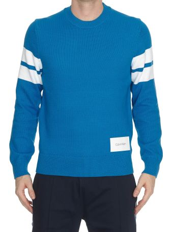 Calvin Klein Tape Yarn Stripe Sleeve Sweater