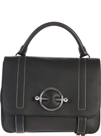 J.W. Anderson Black Disc Satchel Bag