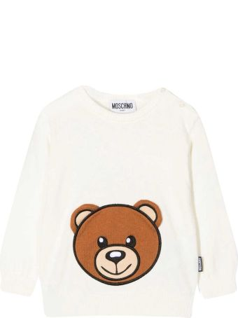 Moschino White Baby Sweater