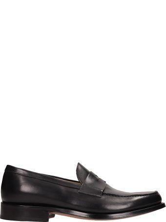 J. Wilton Black Leather Loafers