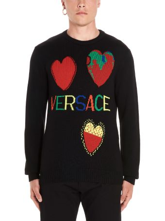 Versace 'hearts&logo' Sweater