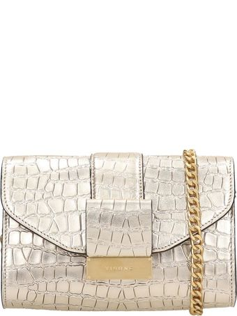 Visone Gold Leather Mila Bag