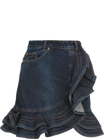 self-portrait Lee X Self Portait Mini Skirt Jeans
