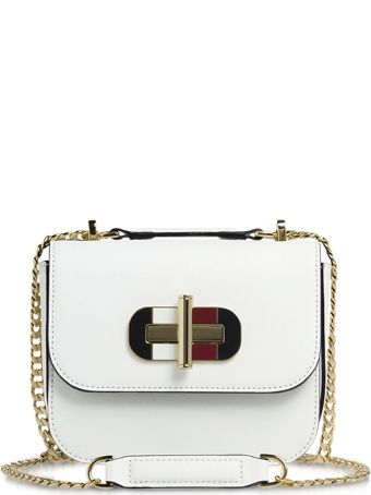 Tommy Hilfiger Small Cross-grain Leather Shoulder Bag