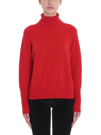 Mauro Grifoni Turtle Neck Red Wool Sweater