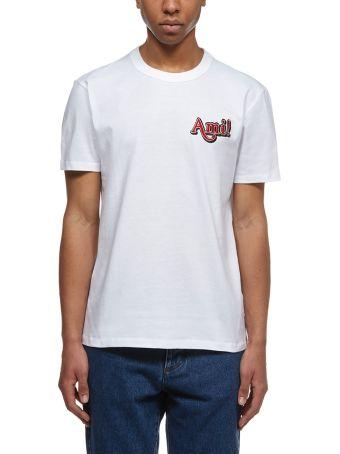 Ami Alexandre Mattiussi Logo Embroidered T-shirt