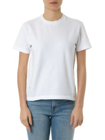 Thom Browne White Cotton Striped T-shirt